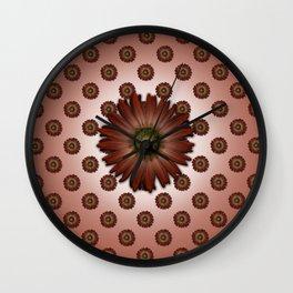 """Big Red Daisy, (pattern)"" Wall Clock"