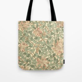 William Morris Honeysuckle Design Tote Bag