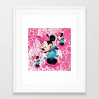 minnie mouse Framed Art Prints featuring Minnie Mouse Cartoon by Maxvision
