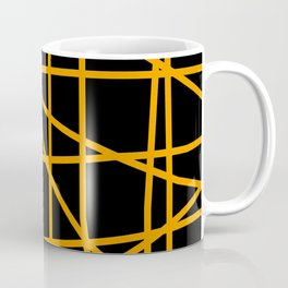 Doodle (Orange & Black) Coffee Mug