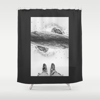 solid Shower Curtains featuring Solid ground by Stoian Hitrov - Sto