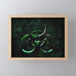 Green Grunge Biohazard Symbol Framed Mini Art Print