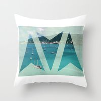 boats Throw Pillows featuring Boats by Ria*