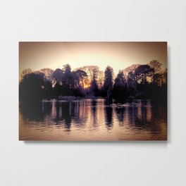 Sunset across the Lake. Metal Print
