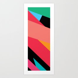 Colorful Yoga mat Art Print