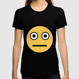 Smiley Face   Neutral Expression Whatever Big Eyes T-shirt