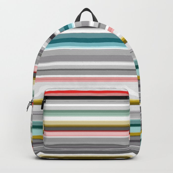 grey and colored stripes Backpack