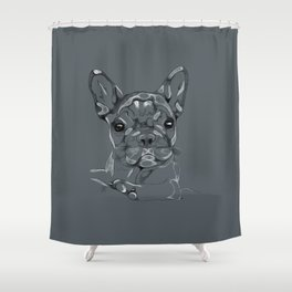 Sketchy Frenchie Shower Curtain