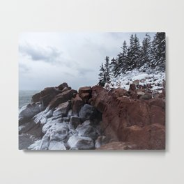 Bass Harbor Lighthouse in the Winter Metal Print