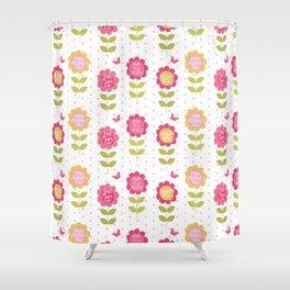 Orange Floral Shower Curtain. Modern pink orange floral vector best mum typography Shower Curtain Orange Floral Curtains  Society6