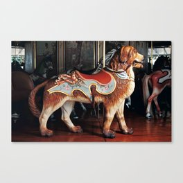 Outside Row Dog Canvas Print