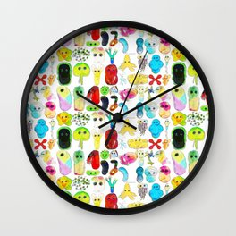 Rainbow Microbes Wall Clock
