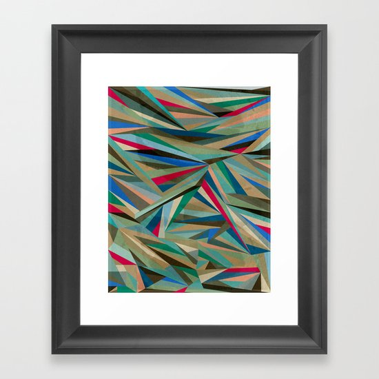 Travel Fragments Framed Art Print