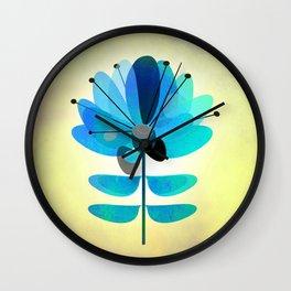 Die Blaue Blume Wall Clock