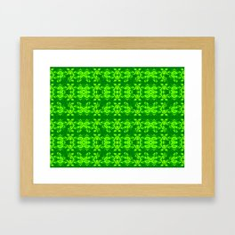 2107 Pattern as sprouted green Framed Art Print