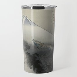 Dragon Rising to the Heavens at Mount Fuji by Ogata Gekko Travel Mug