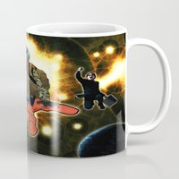 outer space Mugs featuring Outer Space by ZE-DESIGN