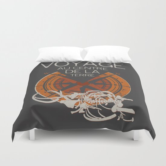 Books Collection: Jules Verne Duvet Cover