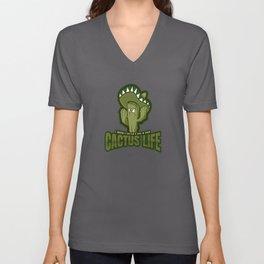 Hug Missing Cactus - Funny Plants Unisex V-Neck
