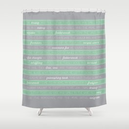 Jabberwocky - Green Shower Curtain