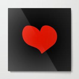 Colored hearts Metal Print