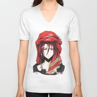 iwatobi V-neck T-shirts featuring Free! Iwatobi Swim Club Rin by Mistiqarts