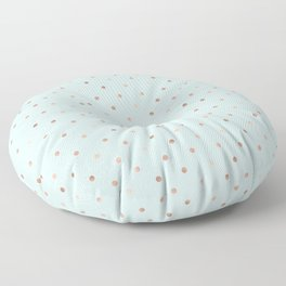 Mint & Rose Gold Polka Dot Pattern Floor Pillow