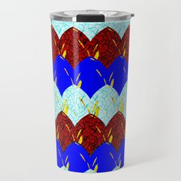 Red White and Blue Scales Travel Mug
