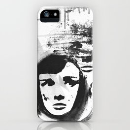 Audrey on a stencil iPhone Case