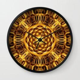 Gold Seam Mandala Wall Clock