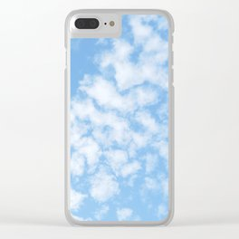 Summer Sky with fluffy clouds Clear iPhone Case