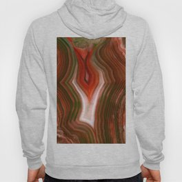 Brown, red and green agate Hoody