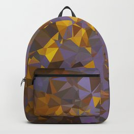 Purple Gold Low Poly Geometric Art Backpack