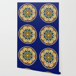 Italian Tile Pattern – Peacock motifs majolica from Deruta Wallpaper