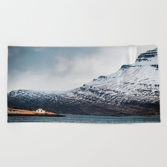 Alone House Mountain Beach Towel