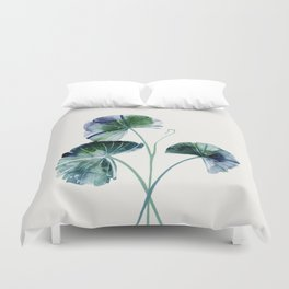 Water lily leaves Duvet Cover