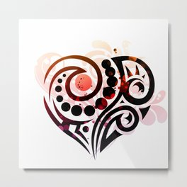 Tribal Love Metal Print