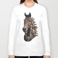 seahorse Long Sleeve T-shirts featuring Seahorse by Lerson