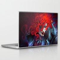 diablo Laptop & iPad Skins featuring Diablo 3 : Female Barbarian by isangelous