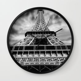 Eiffel tower paris dark canvas art Wall Clock