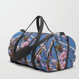 Branches of flowering Plum Duffle Bag