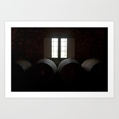 Wine in Chianti Art Print