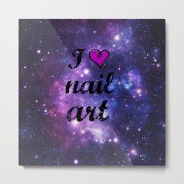 I heart Nail Art Metal Print