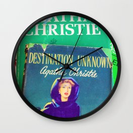 Destination Unknown - Vintage Agatha Christie Wall Clock