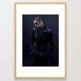Ronan in a suit Framed Art Print