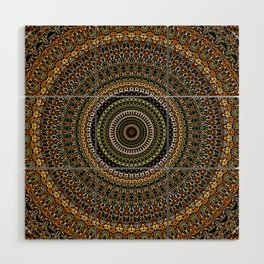 Fractal Kaleido Study 001 in CMR Wood Wall Art