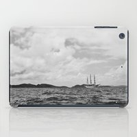 pirate ship iPad Cases featuring PIRATE SHIP by Eliesa Johnson