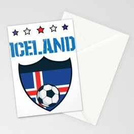 Iceland 2018 World Football 2018 - Iceland Flag Stationery Cards