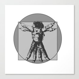 Vitruvian with spacer flair on Grey Canvas Print