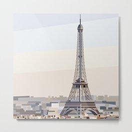 Geometric Eiffel Tower, Paris France Metal Print